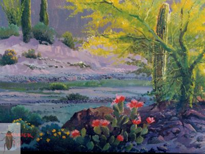 1139 Beavertail Cactus and Saguaros 8 x 10 (400)