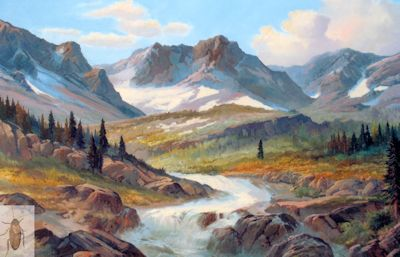 1190 Mountain Cascade 30 x 40 (400)