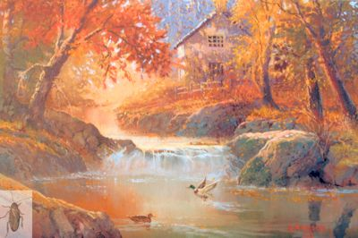 1216 Mallards in Autumn 11 x 14 (400)
