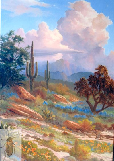 1239 Lupine and Saguaros 36 x 24 (400)