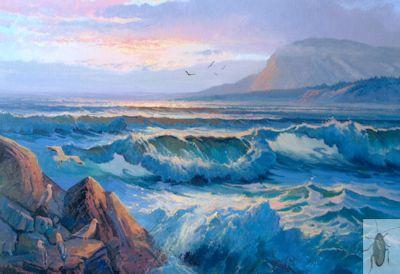 1242 Evening Surf 16 x 20 (400)