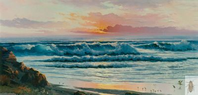 00119 The Rolling Surf 24 x 48 (400)