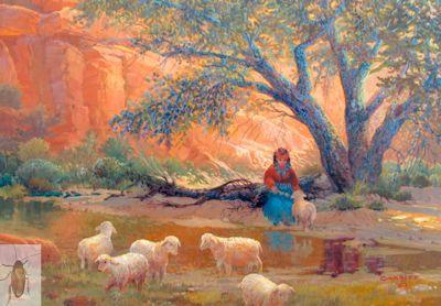 01312 Navajo Shepherdess 12 x 16 (400)