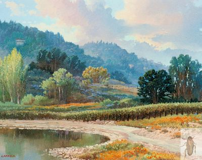 00172 A Vineyard in Spring 16 x 20 (400)