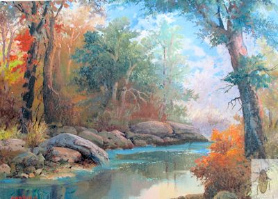 01321 A Peaceful Stream 12 x 16 (400)
