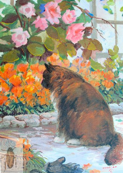 01333 Calico amidst Flowers 9 x 12 (400)
