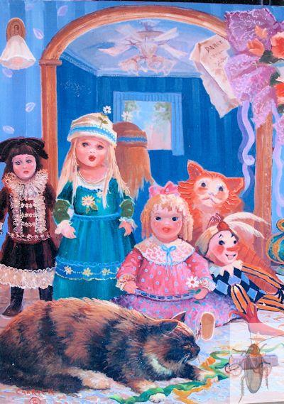 01356 My Dolls, my Cat 24 x 20 (400)