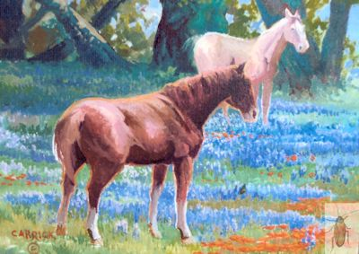 01361 Lupine and Horses 8 x 10 (400)